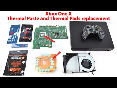 Xbox One X Thermal Paste and Thermal Pads replacement. Cooling system cleaning