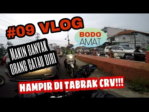 #09 BGZMOTOVLOG - HAMPIR DI TABRAK CRV!! | dual vlog w/ Abbey motovlog