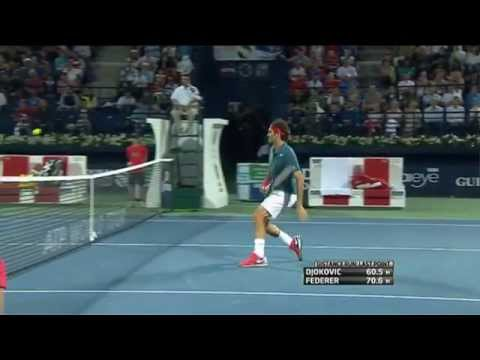 ATP Dubai 2014 Federer Hot Shot