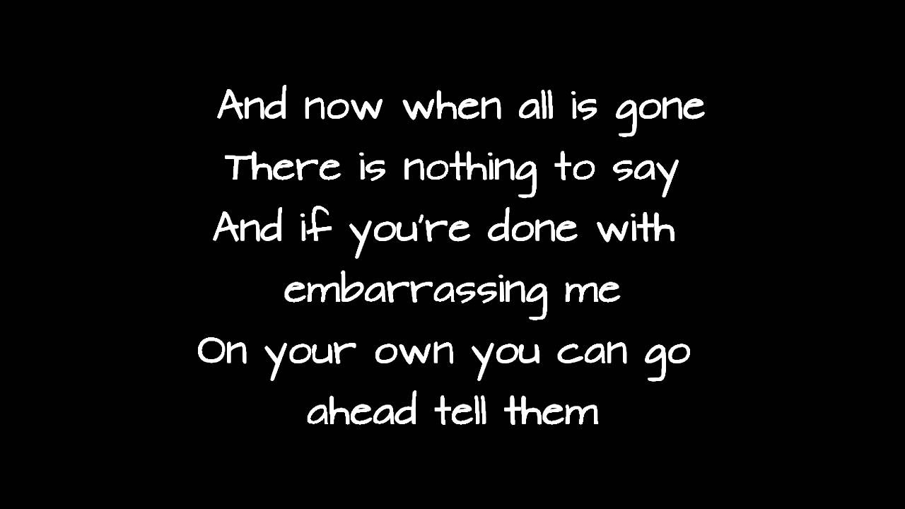 Lyrics to strong again