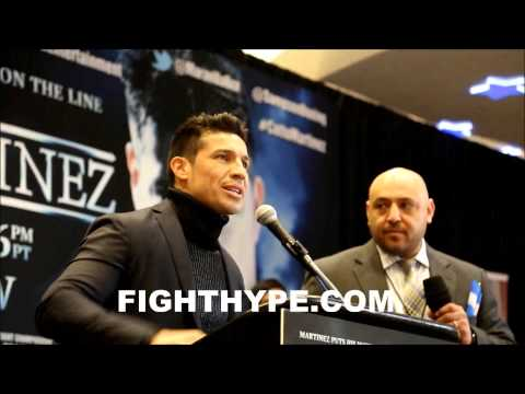 MIGUEL COTTO VS SERGIO MARTINEZ NEW YORK PRESS CONFERENCE