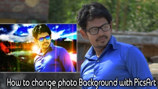 How to change photo Background with PicsArt || Telugu || Tech-Logic