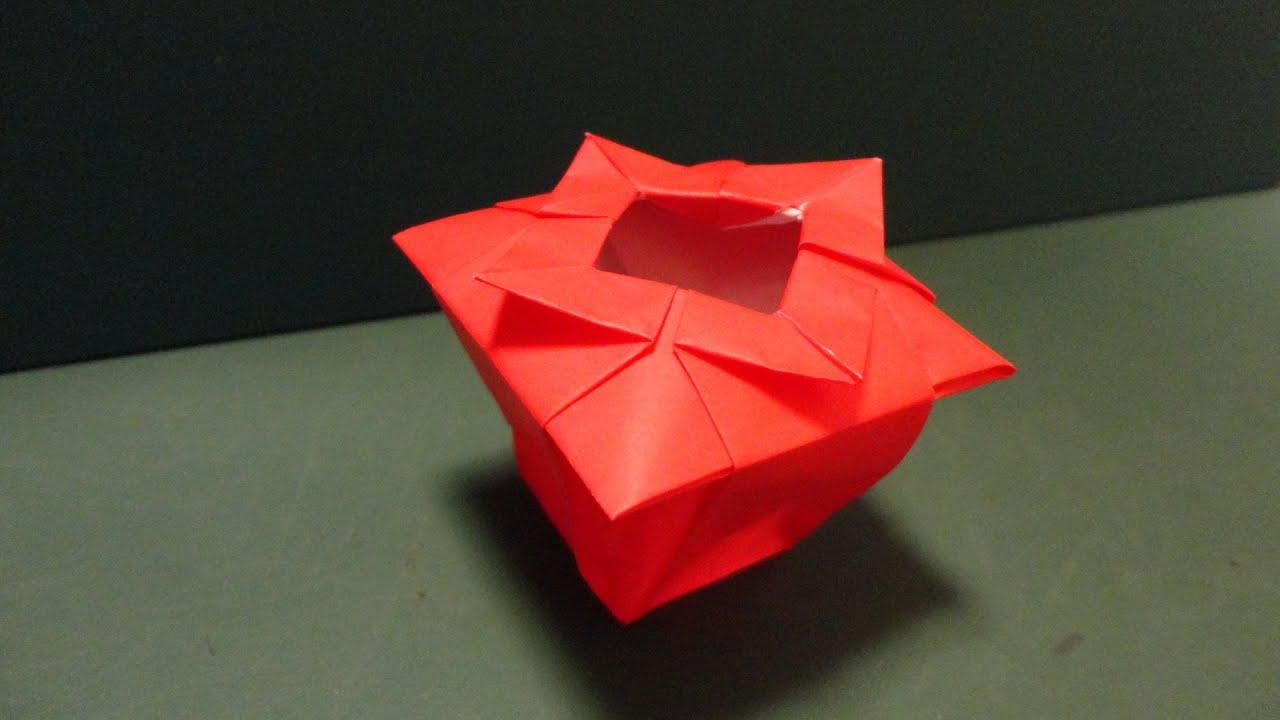 Origami Vase YouTube