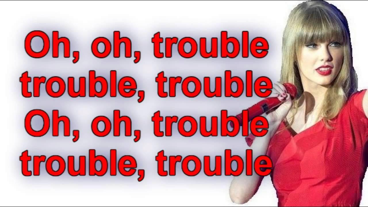 I you were trouble lyrics