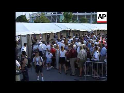 USA: OLYMPICS 96: THOUSANDS EXPERIENCE CEREMONY OUTSIDE STADIUM