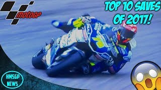 MotoGP 2017: Top 10 Saves Of The Year!