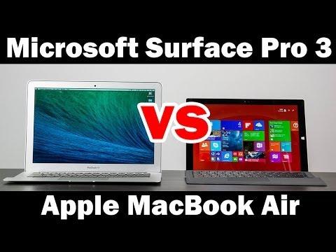 "Microsoft Surface Pro 3 vs 13"" MacBook Air Full Comparison"