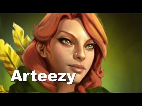 Dendi комментирует игру Arteezy Windrunner vs DK Dota 2