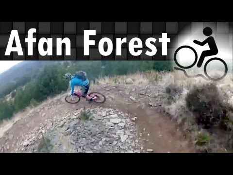 [HD] MTB Afan Forest Park Whites Level trail black run