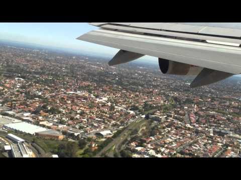 Qantas Flight Sydney - Hong Kong Takeoff at Sydney Airport in FULL HD Galaxy s2