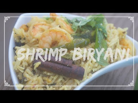 Indian/Telugu: How to make Shrimp Biryani with English Subtitles