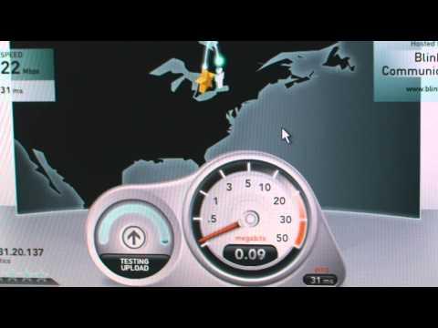 New Fiber Optic Internet Connection Speed Test