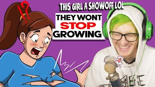 "They ""Wont stop growing"" - Reacting to ""True Story"" Animations"