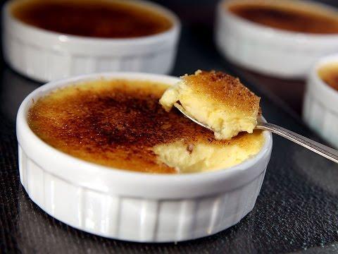 Crème brûlée : Techniques de base en cuisine