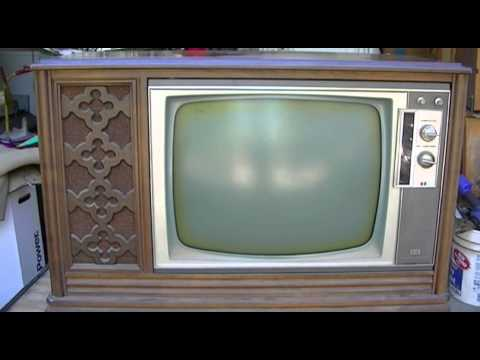 Rca Victor Ctc28 Color Tube Television Repair Restore Return To Life Part 2  3