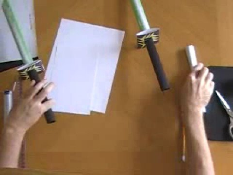 how to make ninja weapons out of paper