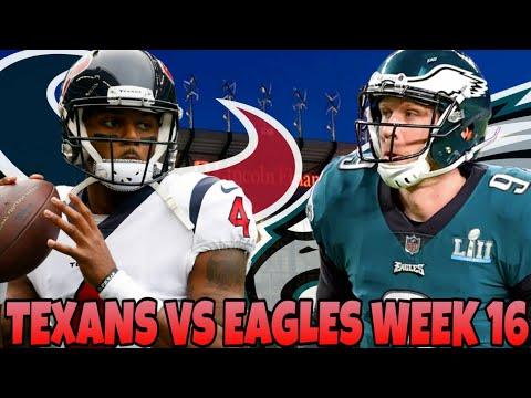 Texans vs Eagles Week 16 Prediction!
