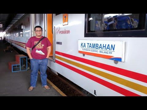 Kereta Api Tambahan Kelas Premium 2017 Merasakan Perjalanan dari Surabaya ke Malang pp (Trip 1)