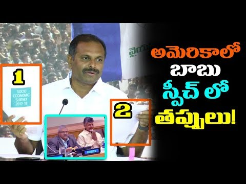 MLA Srikanth Reddy Point out CM Chandrababu Speech at UN Conference | YSRCP Vs TDP | mana aksharam