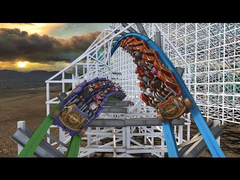 Twisted Colossus concept video and POV - opening 2015 at Six Flags Magic Mountain