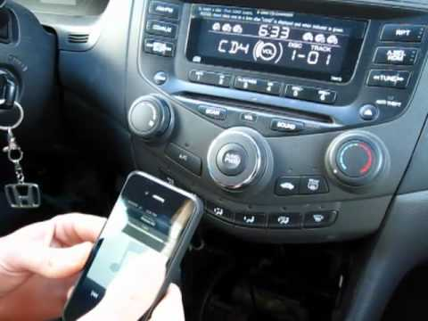 GTA Car Kits - Honda Accord 2003-2007 install of iPhone. Ipod and AUX adapter for factory stereo