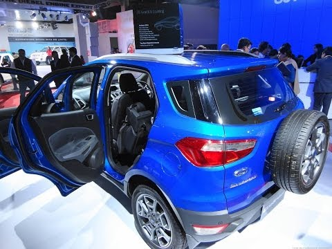 Ford EcoSport Titanium TDCi Duratorq Diesel in Blue at 12th Auto Expo 2014 Greater Noida