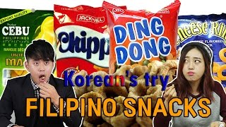 Koreans Taste Filipino Snacks for the first time [Korean Bros]