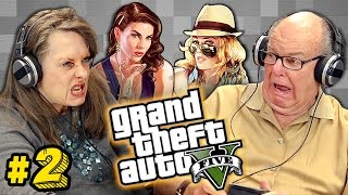 Elders Play Grand Theft Auto V #2 (Elders React: Gaming)