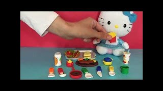 Hello Kitty opens IWako Eraser Cooking Set - Mini Japanese Toys ...