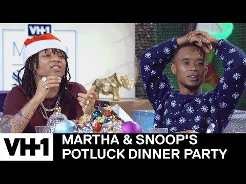 Rae Sremmurd Flirt With Sharon Osbourne | Martha & Snoop's Potluck Dinner Party