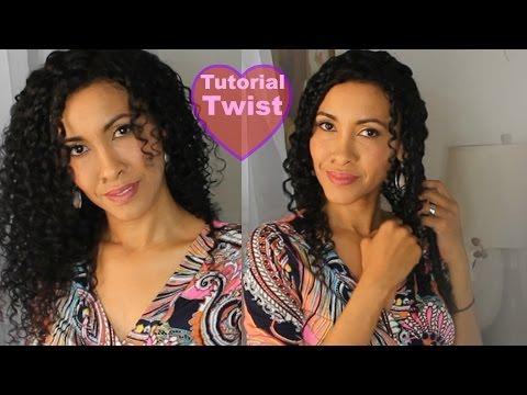 Los Twist para Alargar el cabello rizado natural / Birma Bibi