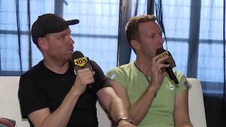 Coldplay Chris Martin & Jonny Buckland interview on Radio 105 - Atlas Project