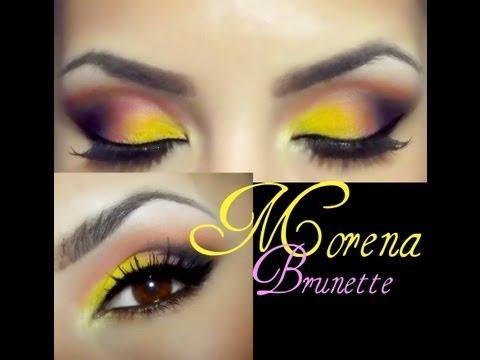 Piel morena maquillaje / Brunette skin eye makeup