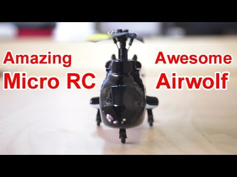 Micro RC Bell 222 Airwolf Helicopter with CC3D