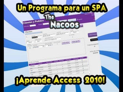 Una aplicación Creada con Access 2010 para un Spa
