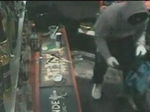 CCTV of armed robbery at Australian club