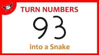 How To Turn Number 93 into Cartoon SNAKE – Learn Drawing for Creative Kids ✔