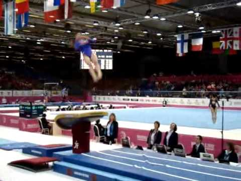 Maria PASEKA RUS Senior Qualification, European Gymnastics Championships 2012 Vault 1