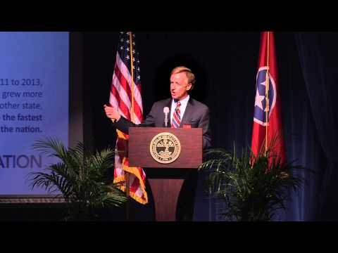 Gov. Bill Haslam: Fastest improving state in education