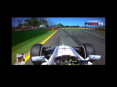F1 2015 Australian- Felipe Massa Onboard And Action