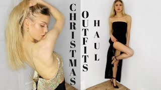 CHRISTMAS PARTY OUTFITS | TRY ON HAUL FEAT. CARLI BYBEL COLLECTION