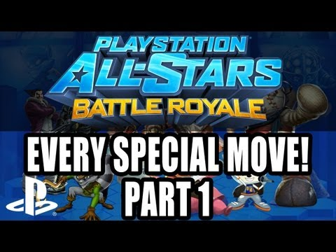 PlayStation All-Stars Battle Royale - All Special Moves PS3 (part one)