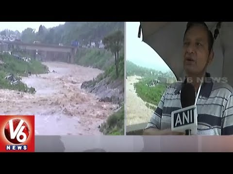 Heavy Rain Lashes Jammu Kashmir | Water Level In Rivers And Lakes Increases Due To Rain Floods | V6