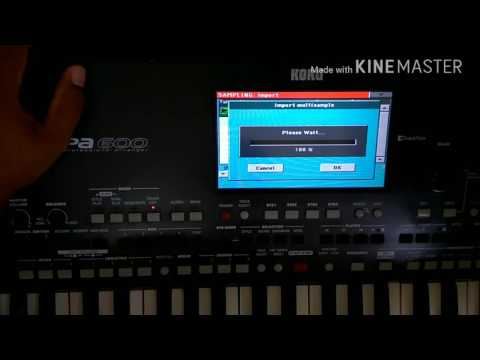 Importando SAMPLE convertido no Awave Studio para o PA600 V2.0