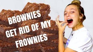i made brownies because i had a bad day