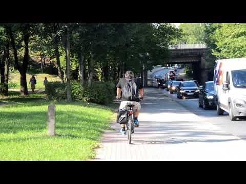 Ścieżka rowerowa na ul Gębały