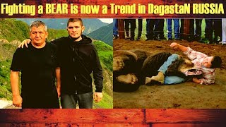 Future Khabib? UFC champ's father posts clip of Dagestani youngster wrestling with a bear