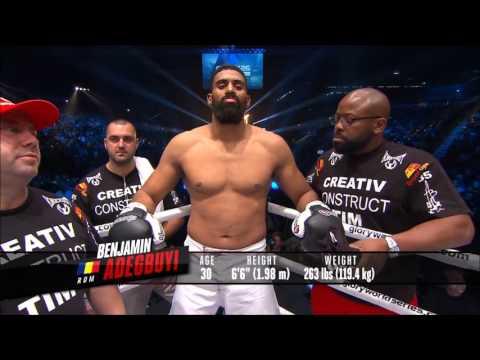 Rico Verhoeven vs Benjamin Adegbuyi Glory 26 Full fight HD
