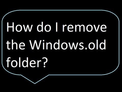 How to remove windows.old folder after a Windows 8 refresh or upgrade