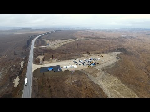 Крымскій мостъ 4K: Начало строительства автомобильныхъ подходовъ въ Керчи